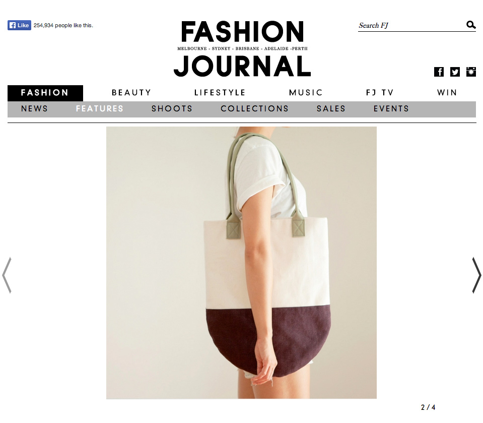 The Made and Found Featured in Fashion Journel Australia